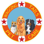 Wagging Tails Pet Care Logo